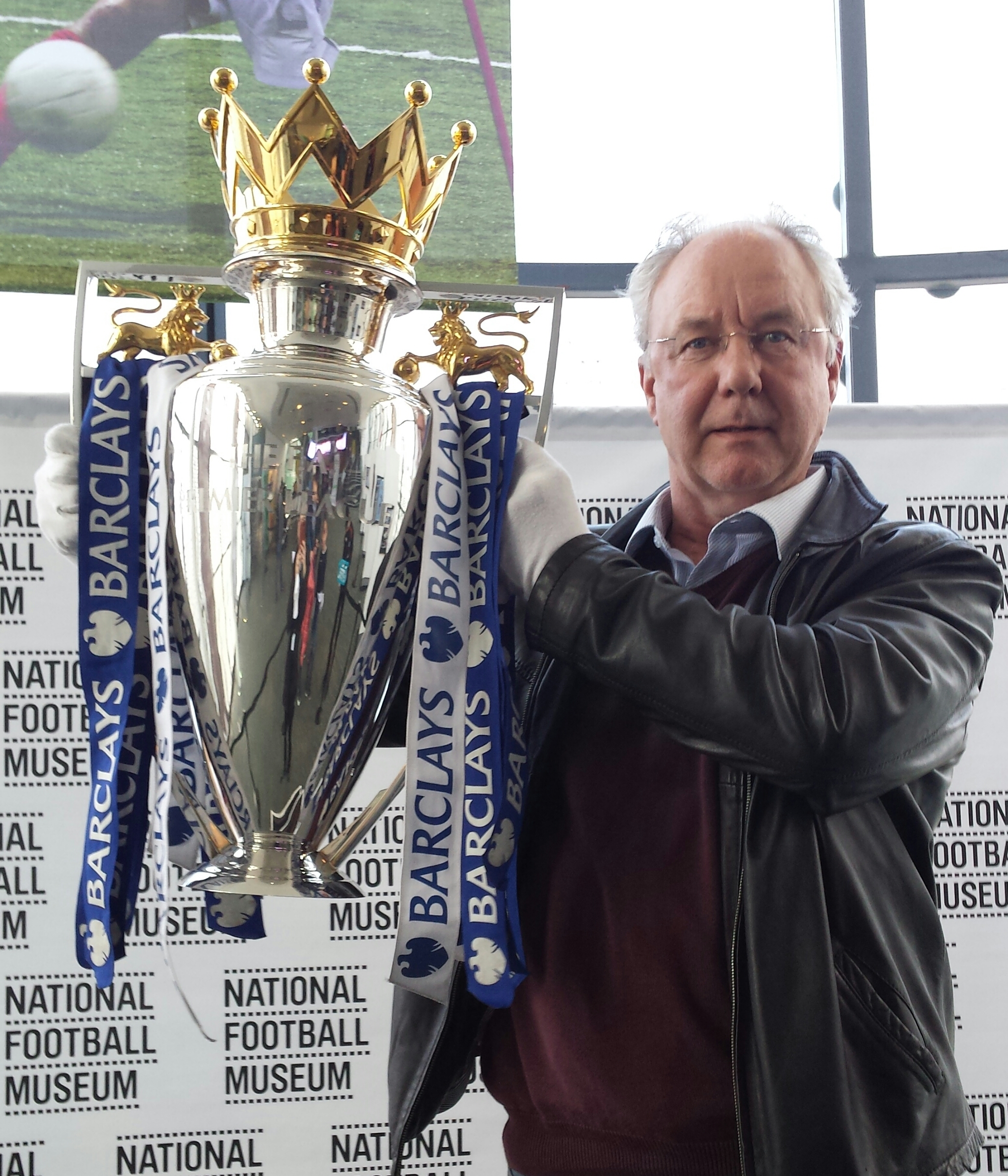 Me and the Premier league trophy