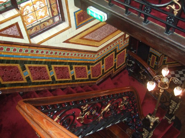 Bartons Arms Staircase - Minton-Hollins tiles