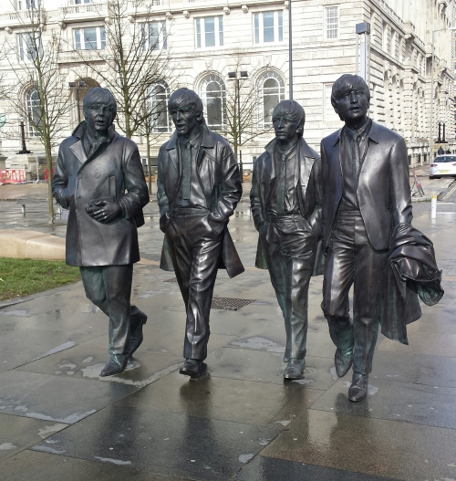 Beatles walking two