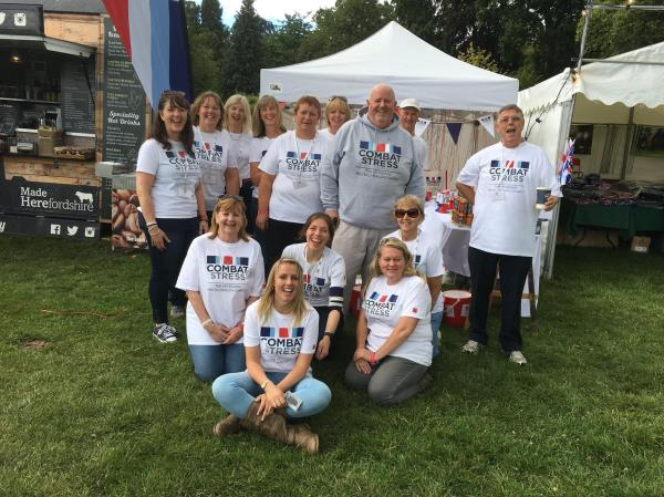Combat Stress Fundraising Team at the Ragley Hall Battle Proms