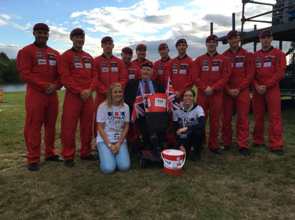 Red Devils support Combat Stress at the Battle Proms