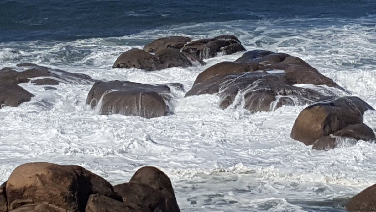 foaming ocean