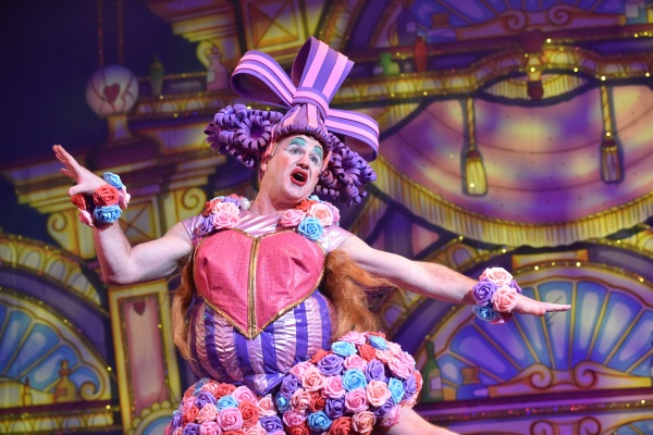 Greg Powrie in Cinderella at the Belgrade Theatre - Credit Robert Day